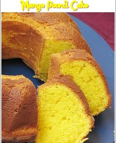 Mango Pound Cake - recipe adapted from Paula Deen. (Make gluten free) Mango Pound Cake Recipe, Pound Cake Recipes, Pound Cakes, Mango Cake Recipe Filipino, Mango Butter Recipe, Bizcocho Pound Cake, Paula Deen, Just Desserts, Gastronomia