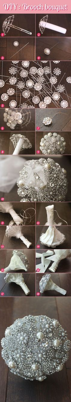 20 Chic Brooch Wedding Bouquets (with DIY tutorial)   http://www.deerpearlflowers.com/20-chic-brooch-wedding-bouquets-with-diy-tutorial/