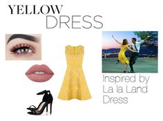 """""""La la Land Inspired Yellow Dress"""" by emily-maya ❤ liked on Polyvore featuring Boohoo and Alice + Olivia"""