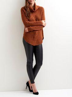 🍁🍁 Klar til koldere tider med denne strikkede pullover, TORTOISE SHELL.