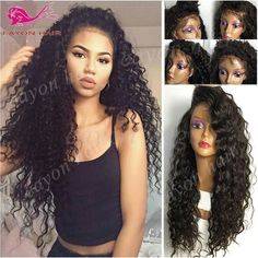 (39.16$)  Watch here  - Japanese Heat Resistant Synthetic Wigs Long Curly Synthetic Lace Front Wigs With Baby Hair Fashion Black Full Lace Synthetic Wig