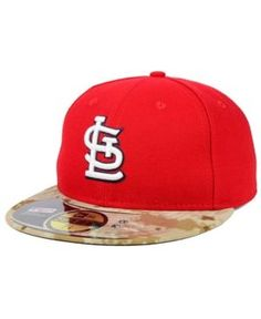 New Era St. Louis Cardinals Memorial Day Stars and Stripes 59FIFTY Cap - Red 7 1/8