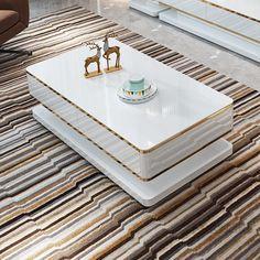 Round Coffee Table Modern, Drum Coffee Table, Coffee Table With Drawers, Coffee Table Styling, Dining Table, Corner Sofa Design, Tv Wall Design, Ceiling Design, Centre Table Design