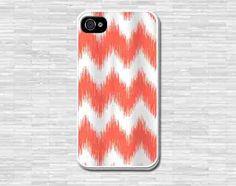 Orange Chevron phone case  iPhone 4 4S iPhone 5 5S 5C by coverforu, $6.99
