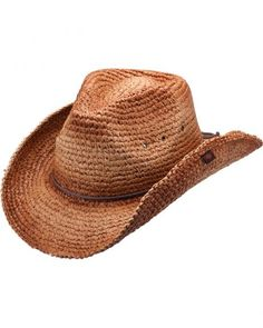 Peter Grimm Jules Raffia Straw Cowboy Hat Western Hats 97be8c026ad6