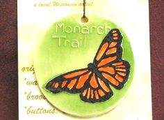 Ornament  MONARCH BUTTERFLY TRAIL handmade by FaithAnnOriginals, $24.00