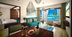 Sandals Royal Barbados Accommodations - Beachfront Prime Minister One Bedroom Butler Suite w/ Private Pool and Patio Tranquility Soaking Tub - B1PP