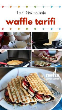 Tost Makinesinde Waffle Yapımı – Nefis Yemek Tarifleri How to make Waffle Making Recipe in Video Explanation Toaster? Video narration of this recipe in the book of people and photos of those who have tried here. How To Make Waffles, Making Waffles, Breakfast Recipes, Dessert Recipes, Wie Macht Man, Create A Recipe, Making Recipe, Waffle Recipes, Crunches