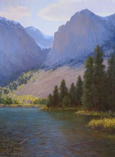 Trail's End by Kathleen Dunphy Oil ~ 40 x 30 - landscape painting