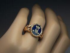 Royal monogram ring