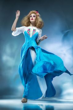 """Вечірня сукня з вишивкою """"КОРОЛЕВА ПОВІТРЯ"""", фото 1"""