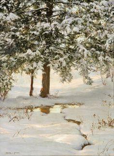 The Hemlocks, Walter Launt Palmer. American (1854 - 1932) - Oil on Canvas -