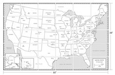 Physical Map Of The United States With Main Geographycal Features - Geographical map of the us