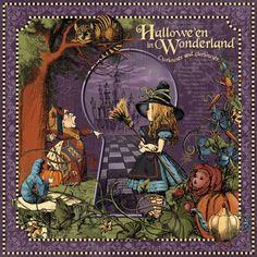 Graphic45 HALLOWEEN IN WONDERLAND 12x12 PAPER PAD scrapbooking ALICE MAD HATTER