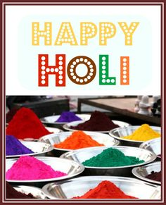 Happy Holi Free Printable.. #India #Holi