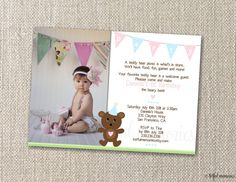DIY Printable Invitation Teddy Bear Picnic by totfulmemories, $15.00
