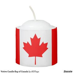 National Flag of CANADA Votive Candle - gifts style diy gift ideas Red Candles, Votive Candles, National Flag Of Canada, All Flags, Personalized Candles, Red Gifts, Burning Candle, Photo Displays, Candle Holders
