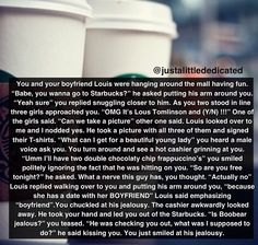 Awww Louis jealous imagine One Direction imagines Louis Tomlinson Imagines, Louis Imagines, 5sos Imagines, Harry Styles Imagines, One Direction Images, One Direction Louis, Direction Quotes, Louis Tomilson, 1d And 5sos