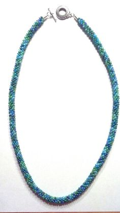 Kumihimo oceanic blue necklace