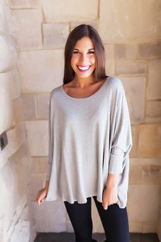 Thermal Dolman- Grey - Dottie Couture Boutique