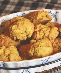 Give a healthful twist to your typical dinner roll with this recipe for Pumpkin Biscuits.
