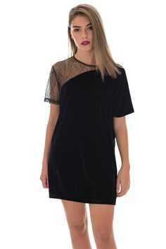 Motel Wilma Velvet Glitter Lace Dress | Shift Style Dress | DIZEN