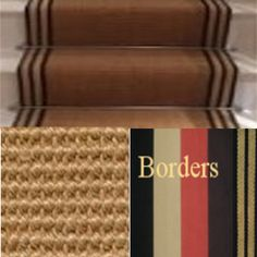 Stair runner jute boucle or - Wholesale Carpets Coir, Stair Runners, Hallway Ideas, Black Linen, Jute, Carpets, Stairs, Farmhouse Rugs, Rugs