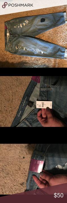 Lane Bryant boyfriend jeans Distressed/lightly destroyed jeans, boyfriend style.. Luuv mine..just didn't need 3 pair! 😉💓 Lane Bryant Jeans Boyfriend