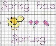 spring has sprung cross stitch
