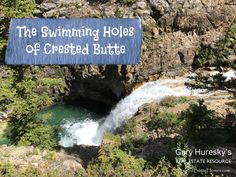 Crested Butte summers are glorious. however, July and August days can definitely require a dip in some water. Crested Butte Colorado, Swimming Holes, Waterfall, Glorious Days, Real Estate, Camping, River, Adventure, Dip
