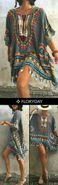 Wild yet beautiful. This dress is gonna catch everyone's eyes! Wild yet beautiful. This dress is gonna catch everyone's eyes! Hippie Style, Estilo Hippie Chic, Mode Hippie, Hippie Look, Look Boho, Gypsy Style, Look Chic, Bohemian Style, Bohemian Gypsy