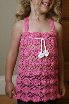 Ravelry: Girl's Camisole pattern by Pierrot (Gosyo Co. Crochet For Kids, Crochet Baby, Knit Crochet, Crochet Children, Crochet Ideas, Crochet Patterns, Crochet Symbols, Crochet Stitches, Crochet World