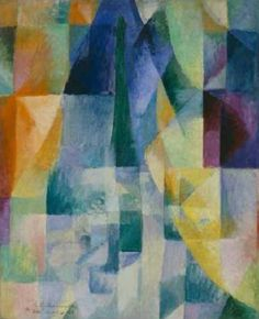 Am I the only one that sees faces in his works?  especially the window series.  Robert Delaunay