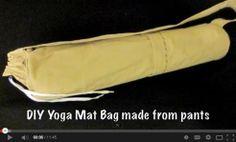 Upcycled Yoga Bag Sewing Tutorial + Free PDF Pattern too! – Rug making Mini Quilt Patterns, Mug Rug Patterns, Sewing Patterns, Crochet Patterns, Sewing Hacks, Sewing Tutorials, Sewing Crafts, Sewing Projects, Sewing Tips