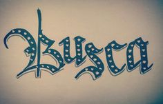 Busca #caligraphy #lettering