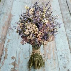 Midnight Haze Dried Flower Bouquet by EnglishFlowerFarmer on Etsy