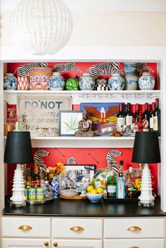 """thefoodogatemyhomework: """"Jamie Meares' brain is a place I want to visit. Drinks Tray, Bar Drinks, Beverage, Jamie Oliver Kitchen, Tropical Bedrooms, Chinoiserie Wallpaper, Dog Eating, Cool Bars, Eclectic Decor"""