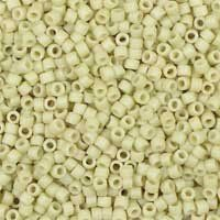 Miyuki 11/0 (1.6mm) Delica Matte Opaque Bone Luster glass cylinder beads, colour number DB 388. UK seller.