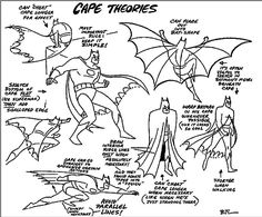Batman Cape Theories by Bruce Timm