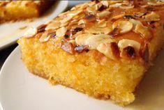 Orange cake with almond glaze - Recipes Easy & Healthy Portuguese Desserts, Portuguese Recipes, Easy Cupcake Recipes, Dessert Recipes, Orange Recipes, Sweet Recipes, Almond Glaze Recipe, Gateau Cake, Happy Foods