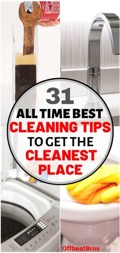 31 All Time Best Household Cleaning Tips That Work Like Magic - - Cleaning is a vital task and there are lot of house cleaning tips to get a clean house. These 31 house cleaning tips are all time best to make house cleaning easy. Household Cleaning Tips, Deep Cleaning Tips, Toilet Cleaning, Bathroom Cleaning, House Cleaning Tips, Cleaning Solutions, Spring Cleaning, Cleaning Hacks, Borax Cleaning