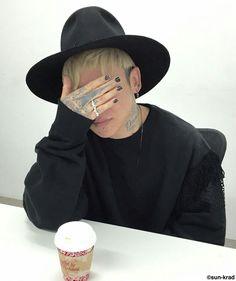 Shy boy..