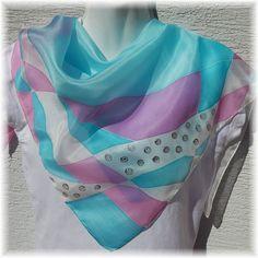 Hedvábný ručně malovaný šátek