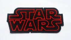 STAR WARS The force awakens Movie Logo TAG Classic Patch Badge / embroidered applique / sci fi / nerd