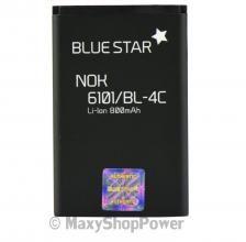 BATTERIA ORIGINALE BLUE STAR 3,7V 800mAh LI-ION IONI LITIO PER NOKIA 6101 NERA BLACK NEW NUOVA IDEA REGALO - SU WWW.MAXYSHOPPOWER.COM