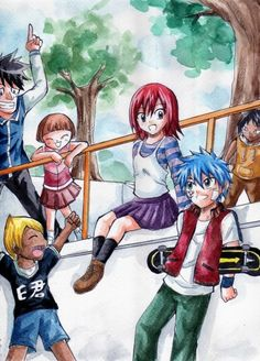 Jellal Fernandes,Erza Scarlet,Millianna,Wally Buchanan,Simon,Sho - Fairy Tail,Anime This has got to be one of my favorite pics ever.
