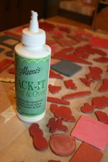 "Aleene's to the rescue again.  This is how I put ""stickum"" on the back of unmounted stamps."