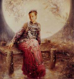 zhao chun | zhao chun nació en 1970 en sus cuadros zhao chun retrata a damas ...