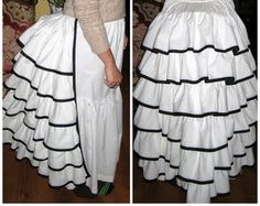 petticoat with wire bustle