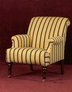 Embercombe armchair: another restrained English classic from Wriothesley. Built the traditional way. Cone springs give a firm seat that will last for generations to come. The design is inspired by the classical forms of the Georgian era. Buy it at www.altwoode.com Georgian Era, Armchair, Traditional, Classic, English, Furniture, Inspired, Design, Home Decor
